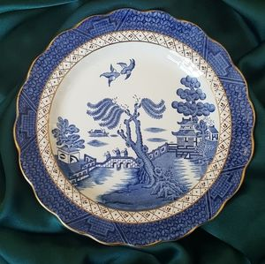 Real Gold Willow Plate